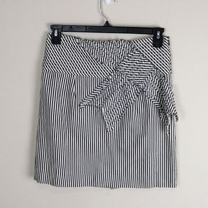 Taikonhu striped skirt with attached sash